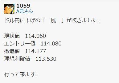 usdjpy - アメリカ ドル / 日本 円 達成です。
