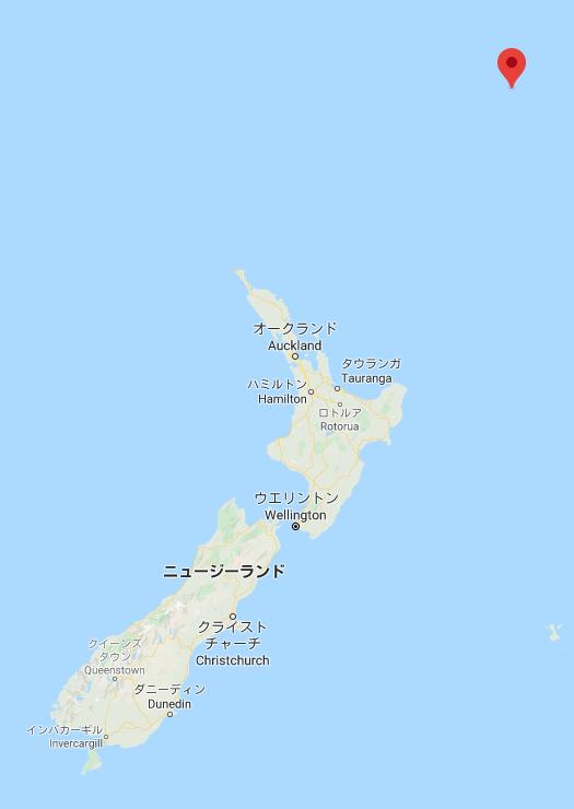 8202 - ラオックス(株) 昨夜、大魔神出現!! ニュージーランド北のケルマデック諸島南方、M7.4 大魔神は、プレートつながり
