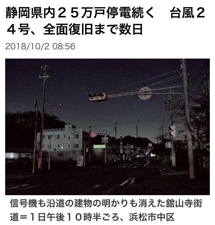 998407 - 日経平均株価 静岡県停電24万戸で大変みたいですね。