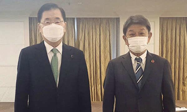 998407 - 日経平均株価 韓国の鄭義溶(チョン・ウィヨン)外交部長官は5日(現地時間)、英ロンドン市内のホテルで日本の茂木敏充
