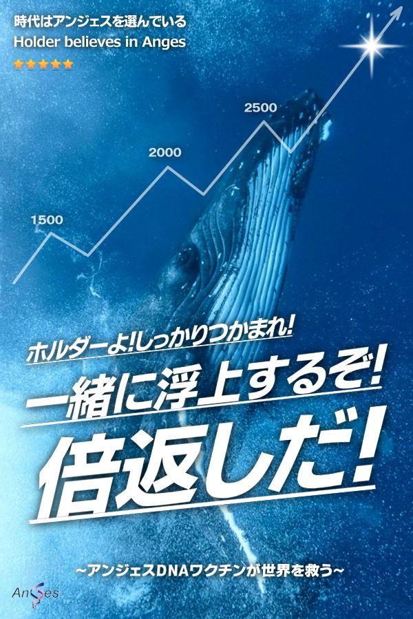 日本海 日本海のみなさん、応援お疲れ様です。前場のアンジェス強かったですね!後場もこの上昇気流に乗ってグイグ
