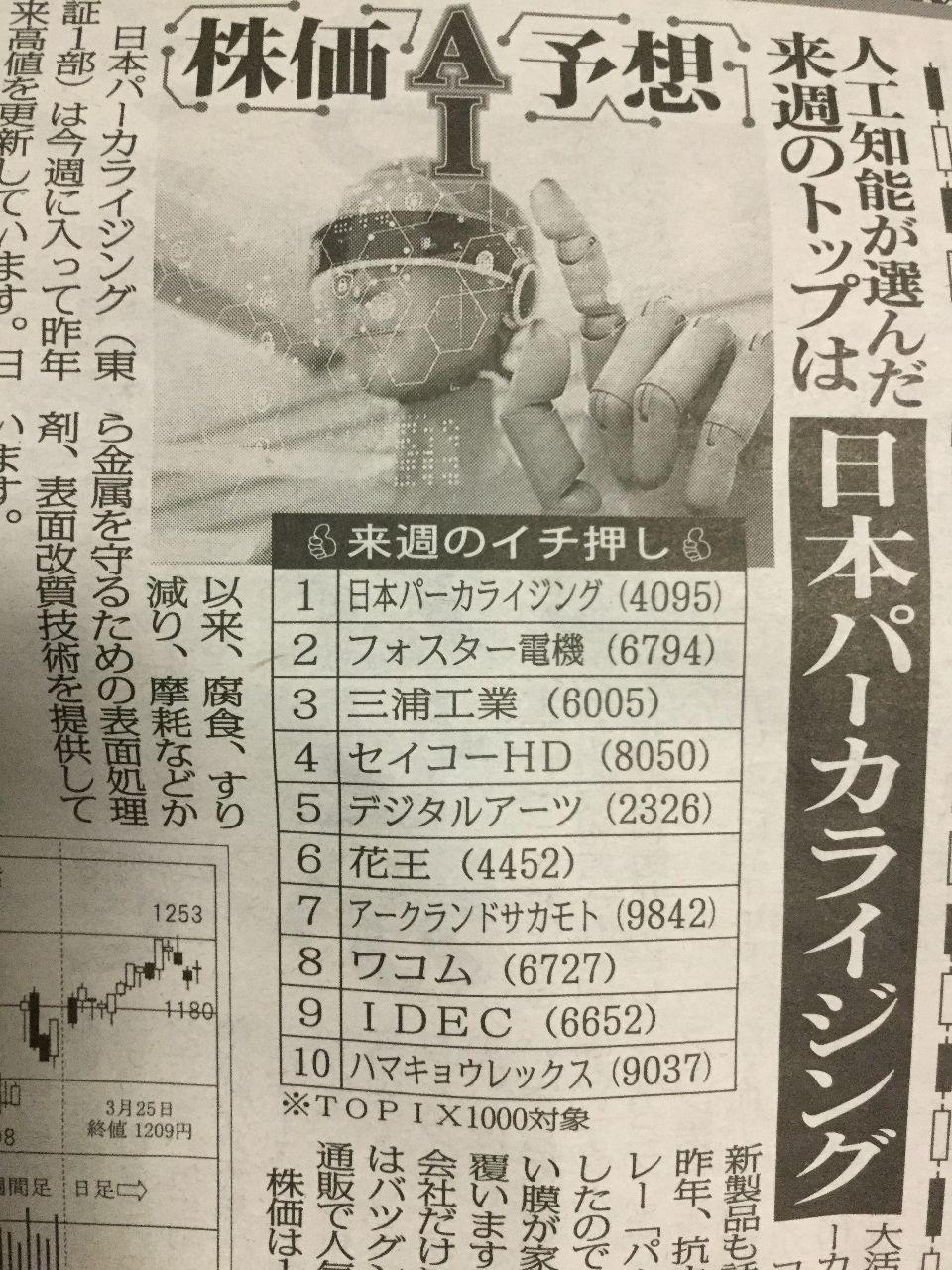 6005 - 三浦工業(株) 当てにはならんけど記事に載ってました