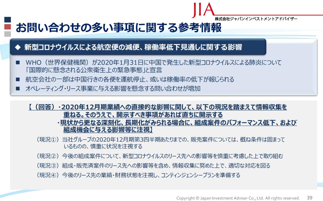 7172 - (株)ジャパンインベストメントアドバイザー コンティンジェンシープラン? 何でしょうか。