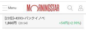 4393 - (株)バンク・オブ・イノベーション 週明けは、2000円目指す展開でしょうか?