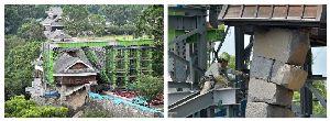 熊本城 歴史の1ページ。今だから見に来て欲しい!! 奇跡の一本石垣で熊本城震災被害の現状で良く紹介される飯田丸櫓、緊急工事の続報です。 現場は規制域外か