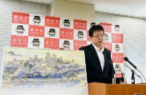 熊本城 歴史の1ページ。今だから見に来て欲しい!! 熊本城「20年で復旧」 大西市長が意向示す  2016年07月26日   熊本城「20年で復旧」 大