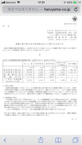 7416 - (株)はるやまホールディングス 4月前比87.7