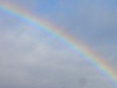 芭蕉から文月まで  「虹」       夕虹に暫し佇む家路かな    風船