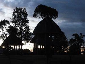 ☆デジカメ写真で遊びましょう☆ 県立公園で、シルエット。