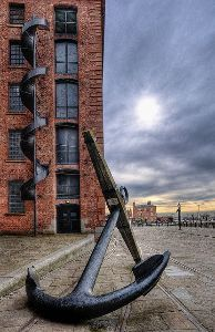 youtubejockey Mersey Anchor. Parked outside the Maritime Museum
