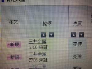 5706 - 三井金属 3190売り増しヘッタ。