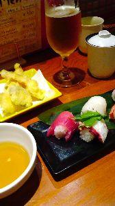 【姫路~明石】 ☆大人の探検隊☆ 私も今日は姫路で寿司食ってきたよ お溝筋から少し横手に入ったらある 寿司Barあばんさーる お昼はラ
