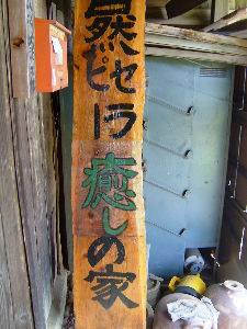 博物館森 I made the signboard and fit it at the entrance ha