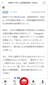 3633 - GMOペパボ(株) ココって人気無いの?