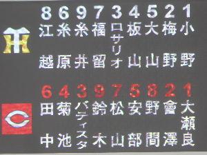 ふぉっともっと〜♪ 5/12 広島対阪神(マツダスタジアム) スターティングラインナップ✨