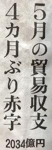 8301 - 日本銀行 これから 当面¥安方向だろう  頼みの 貿易収支は恒常的な赤字化か?