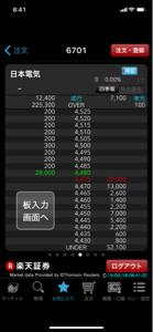6701 - NEC 100株だけ多い所が4500円から4520円に変わったな  なんかの印かな