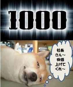 3904 - (株)カヤック 1000!