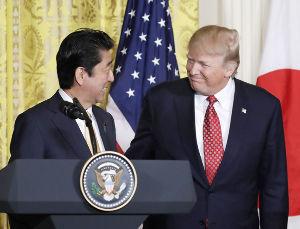 島津惟新義弘公 昨日、安倍首相が飛来し、トランプ大統領との間で就任後の初会談が持たれた。どのような会話が行われたのか