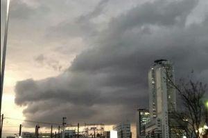 西部から♪ 名古屋上空に現れたそうです。  待ち受けにどうぞ。