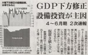 """日本経済 """"HARDLANDING"""" への道程 何だ ヌカ喜びだったのか  1次速報から 本チャンの 2次速報は下方修正だと! 残念"""
