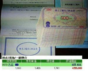 9979 - (株)大庄 今回も食事券を選択して、今日11月30日まで有効の『株主ご優待ご飲食券』500円券20枚の1万円分が