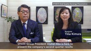 8739 - スパークス・グループ(株) スパークス・グループの2020年3月期第2四半期決算につきまして、代表取締役CEOの阿部修平よりご報