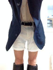 メンズファッション スタイルはどうでしょうか? パンツを短く、ブーツをひざ下にしてみました。