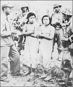 アベノリスクを検証する 捕虜となった朝鮮人民軍女軍、女性パルチザンゲリラ、そのほかに朝鮮人民軍や中国の人民志願軍の占領地内の