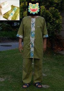 沖縄だいすき!Ⅱ 今朝は、寒い、気温10度です。  先日泊まった某ホテルコスタビスタのパジャマを 昨日は暑かったから着