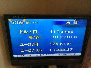 Pouvez-vous échanger de l'argent も〜さて  今日の予想レンジ  125円〜135円  悶絶、超絶、気絶 LLLLLLLLLLL。