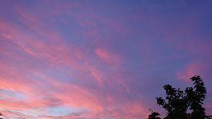 50過ぎたら自分の為に生きたいね((o(^∇^)o)) もんちゃん✨ まおちゃん✨  お疲れ様〜〜(^o^)/☘️🎵  今ね〜〜夕焼けが綺麗✨だったので 📷