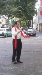 """天草来てみんですか? 少し前に熊本の下通り歩いとったら""""アントニオ猪木""""におうたばい &rdquo"""