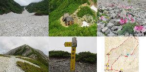 中高年で日本百名山を始めました こんばんは。  天気微妙でしたが、行って来ました。 ①蓮華岳:信州百名山(96座絵目)、三百名山、百