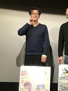 ☆金澤とことこ☆ スカッとジャパンの嫌われ役で 子供達にも人気がある 俳優の津田寛治さん出演の映画と 舞台挨拶があった
