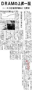 6742 - (株)京三製作所 DRAM価格の上昇一服の日経の記事とNYでハイテク株が軟調なことが重なって、今日は、ハイテク株が全般