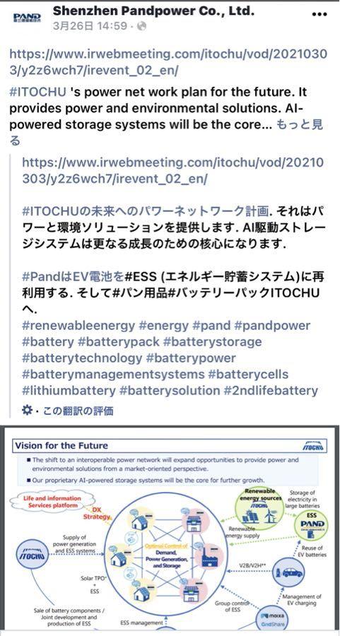 初動銘柄の材料メモ パンドパワー社のFacebook見てみたら見慣れた図が掲載していました🤲  パンドパワーもこの図の重