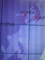 裏台湾 現在の韓国人から見た[アジア大陸]、  この地図からは朝鮮は朝鮮大陸に なっている?。。。。。。。