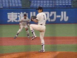 栄光の攻撃野球・東洋大学硬式野球部 東都大学野球・一部二部入れ替え戦・第三回戦イメージ 1  駒沢000 001 000  1  H4