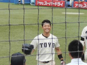 栄光の攻撃野球・東洋大学硬式野球部  東都大学リーグ戦 第六週一回戦 第二試合  東洋大000 000 002  2  H6 E0 B4