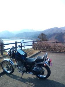川越で 暖かい一日でしたね。  今日は宮ヶ瀬ダムまで行って来ました。  バイク仲間が集まってだべるだけですが