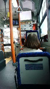 70才以上の部屋ですよ。 みなさま、ちょっとバスに乗って見ました!どこまでいけるかな。 迷い子さん電話の件了解ね、