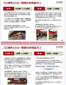 3563 - (株)スシローグローバルホールディングス 日本人駐在員が多いところしか出店してねーじゃねーか! なんがグローバルだってことで名前変えたんだな。
