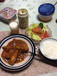 お酒の飲み方 (^ω^)雨ばっかりだから、スタミナ〜!  ワタスが作った鶏手羽のシチュー‼︎。 グレー