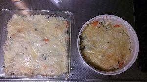 鴎のお料理部屋 ※クリームドリア 作るとついつい残ってしまうシチューやカレーなどを利用した一品  ①フライパンを熱し