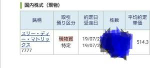 7777 - (株)スリー・ディー・マトリックス 今日も買いまくってまさかの510円割れ、、、 508円でも買えたので満足してまつ🍆 アチキのバイオベ