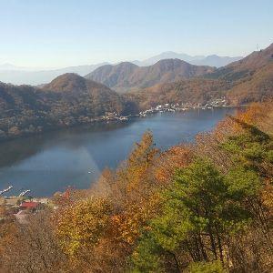 書き込み隊 榛名ロープウェイより  榛名湖を見下ろすと、こんな感じです  何もありませんが景色だけは最高でした