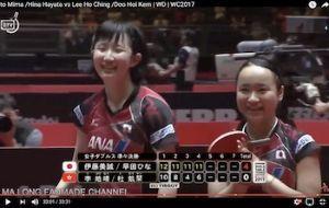 同性愛に関するビックリニュースを号外いたします! 今日、行われた卓球の女子のシングルの試合で、いつもはコンビを 組んでいる、伊藤美馬選手と早田ひな選手