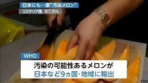 生きる意味 おいおい、いまニュース見たら、 例のリステリア菌が、今度はオーストラリア産のメロンに入って 日本に輸