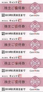2698 - (株)キャンドゥ 【 株主優待到着 】 100株  100円券×20枚 (2,160円相当) -。